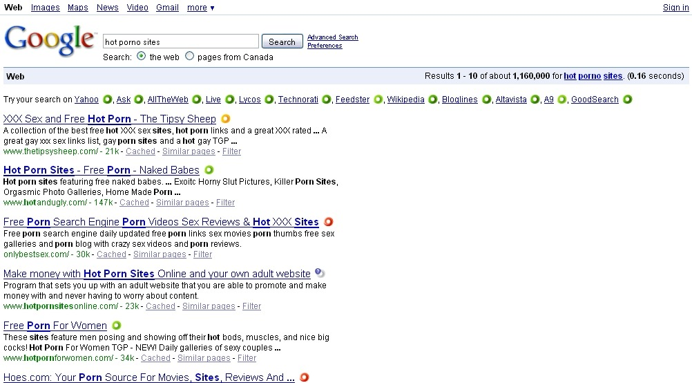 porno sites 4 google