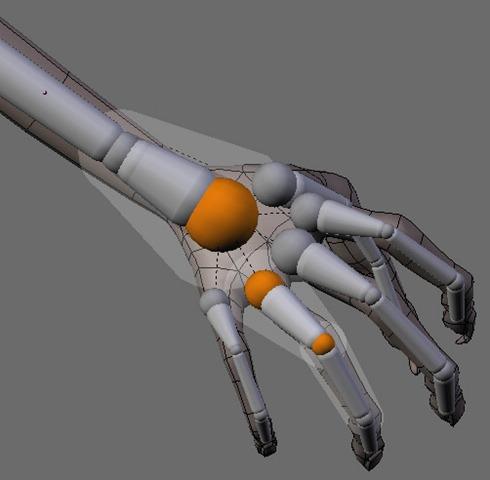 Blender Auto Weight Paint Skeleton