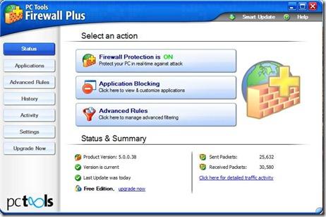 PC Tools Firewall 1