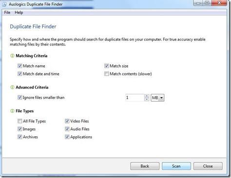 Duplicate File Finder 2