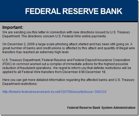 Federal reserve scam 3