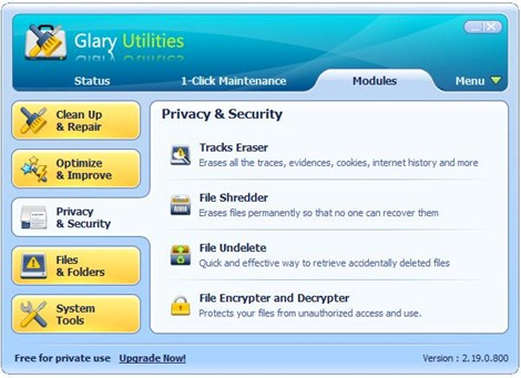 Glary Utilities new