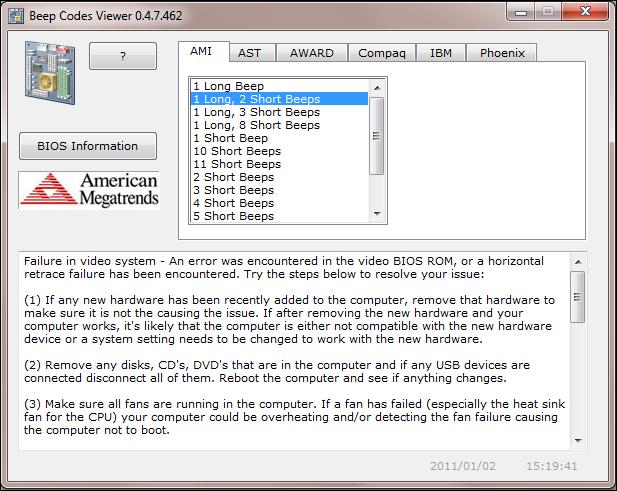 Troubleshoot BIOS Beep Codes With Free Rizones Beep Code