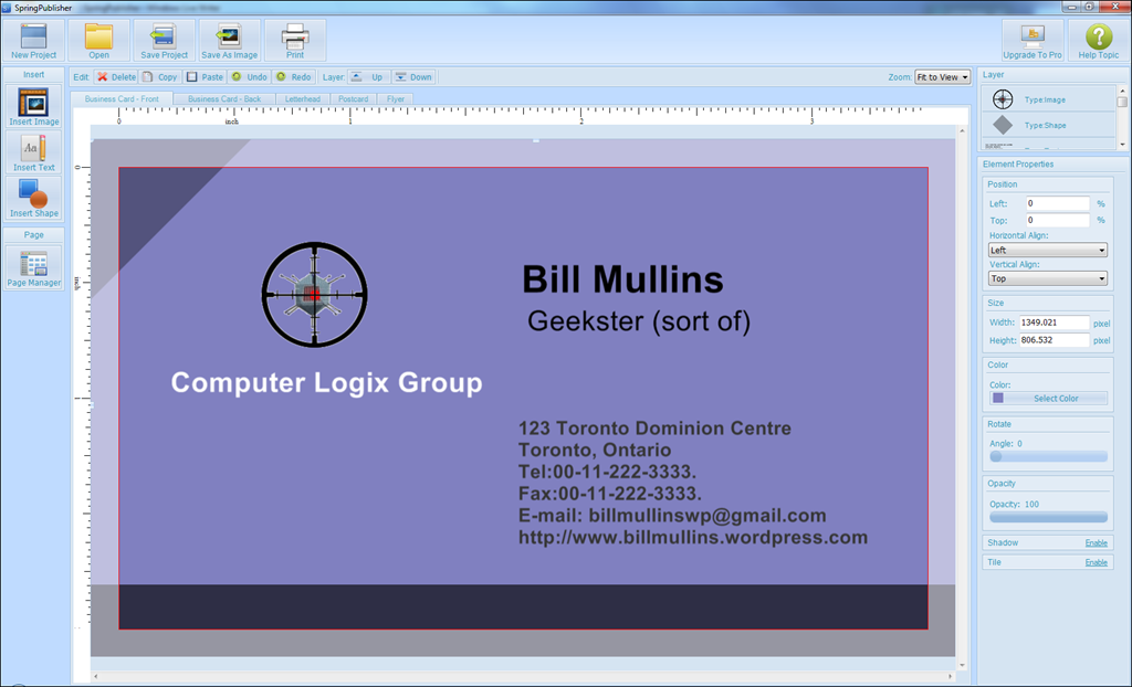 Business cards bill mullins weblog tech thoughts image reheart Choice Image