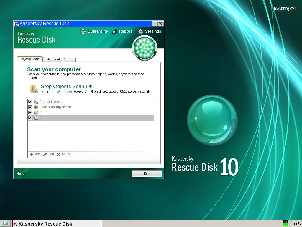 Инструкция kaspersky rescue disk