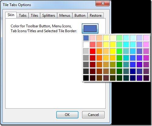 Tile Tabs Options