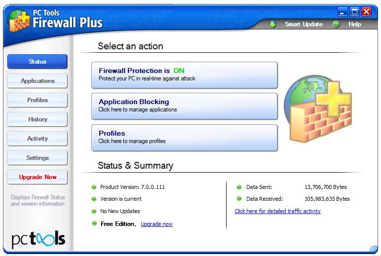 PC Tools Firewall Plus - это бесплатный, простой в использовании, но