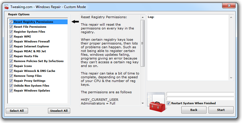 tweaking com windows repair