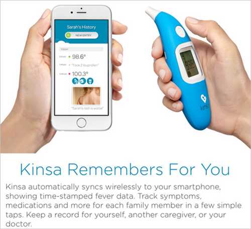 Other Baby Gear Baby Reasonable New Kinsa Smart Ear Thermometer An Indispensable Sovereign Remedy For Home